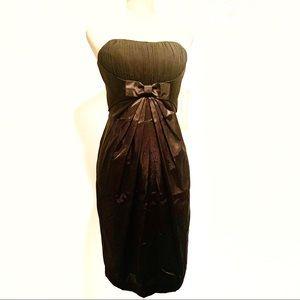 DELARU Black Strapless Evening Dress